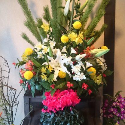 お正月用玄関花